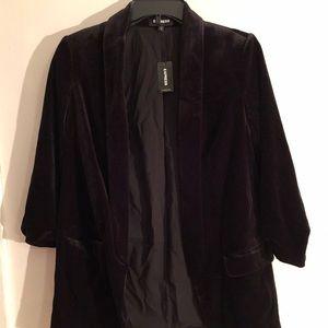 Black velvet Express blazer